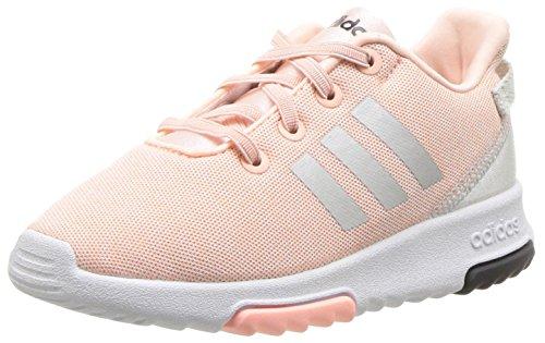 adidas Kids CF Racer TR Running Shoe, Haze Coral/Metallic Silver/White, 8K M US Toddler