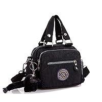 Amison Classic Waterproof Nylon Handbag Shoulder Diagonal Bag Messenger (Black)