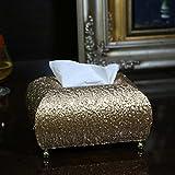 PLYY Holz Multifunktion Tissue-Box Luxus Wohnzimmer Aufbewahrungsbox Serviettenbox, D