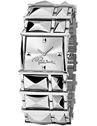 Roberto Cavalli Ladies Rock Analogue Watch R7253121515 with Quartz Movement, Stainless Steel Bracelet and Silver Dial