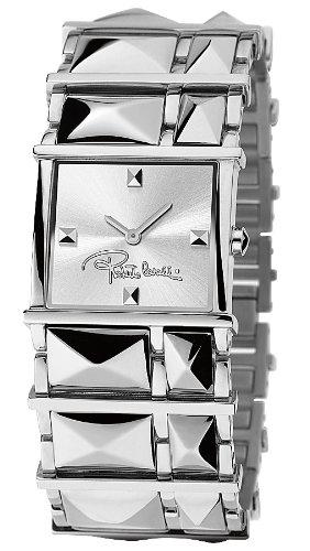Roberto Cavalli 7253121515 - Reloj de mujer de cuarzo, correa de acero inoxidable color plata