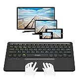 Clavier Bluetooth pour Smart TV Tablette Smartphone Apple TV 44en 1  Paire 5appareils en même temps   Android, Mac OS X, Windows 8et 10  clavier sans fil avec pavé tactile   UK QWERTY