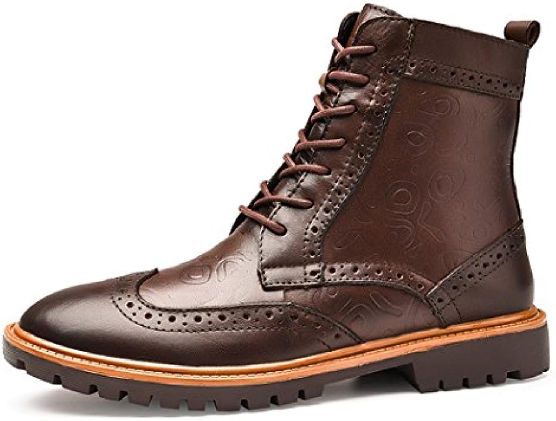 HHY-Cómodo y breathableThe Hombre de otoño e invierno alta botas ayuda al aire libre más grande de terciopelo...