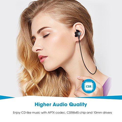 Auriculares Bluetooth 4.1SoundPEATS Cascos Deportivos Magnéticos In- ear Inalámbricos con Mic,  Resistente al Agua IPX6,  Duración 8 Horas para iPad,  iOS Android Móviles Smartphones PC