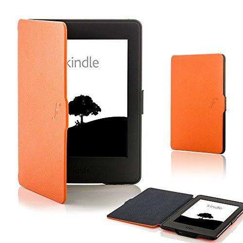 Forefront Cases Kindle Paperwhite (Solo per 2012, 2013, 2015 Modello) Smart Custodia Caso Case Cover - Ultra Sottile Leggero Protezione Dispositivo Completa Smart Auto Sveglia Sonno (ARANCIONE)