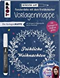 Vorlagenmappe Fensterdeko mit dem Kreidemarker - Fröhliche Weihnachten von Bine Brändle: Vorlagenbögen mit Motiven in Originalgröße - Bine Brändle