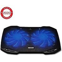 KLIM™ Pro - Refroidisseur pour Professionnels - Ventilateur Support PC Portable - Ventilo Transportable - 10 à 15,6 Pouces - Extra Port USB [ Nouvelle Version 2019 ]