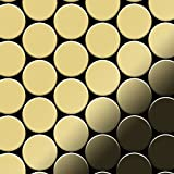 Azulejo mosaico de metal sólido Latón laminado oro 1,6 mm de grosor ALLOY Medallion-BM 0,73 m2