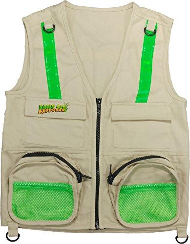 Eagle Kostüm Kind - Eagle Eye Explorer Cargo Weste für Kinder mit reflektierenden Sicherheitsstreifen. 100% Baumwolle. Mittel/groß. Bräunen