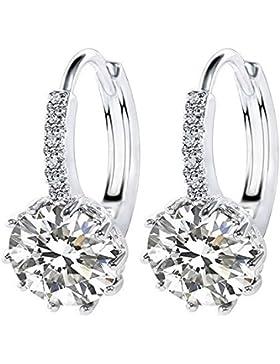Brillantschliff klar Swarovski Elements Fashion Ohrringe perfektes Geschenk für Sie