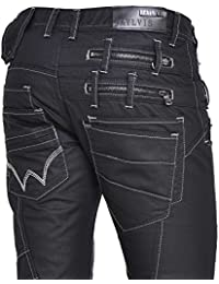 BLZ jeans - Jeans noir luisant en coupe droite