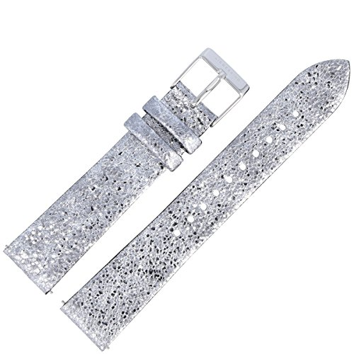 Liebeskind Berlin Uhrenarmband 18mm Leder Silber - Uhrband 99