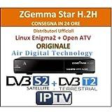 Zgemma h.2h Combo HD receptor híbrida de doble núcleo Linux OS DVB-S2+ DVB-T2