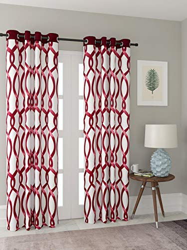 check MRP of maroon curtains for living room Cortina