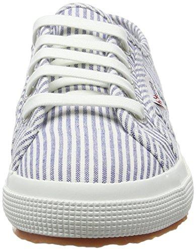 Superga 2750 Cotjshirt, Baskets Basses Mixte Enfant Blanc - White (903 White/Stripes Blue)