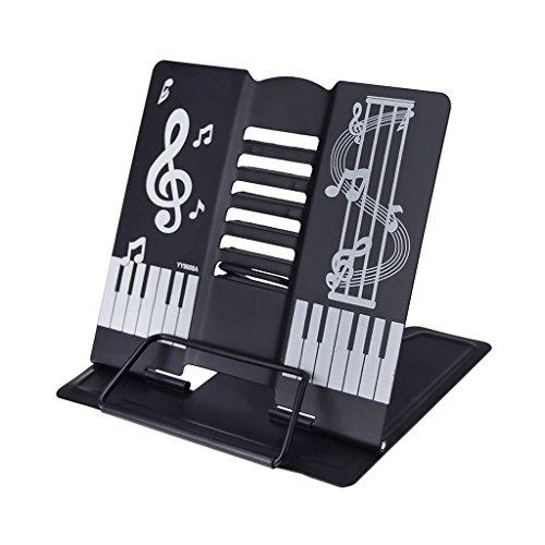 Classic Tisch-Notenständer Musik Kinder Leseständer (Schwarz)