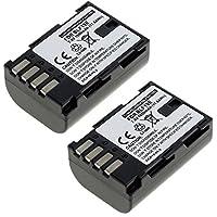 2x subtel® Batterie premium pour Panasonic Lumix DMC-GH4, Lumix DMC-GH3, Lumix DC-GH5 (1600mAh) DMW-BLF19E Batterie de recharge, Accu remplacement