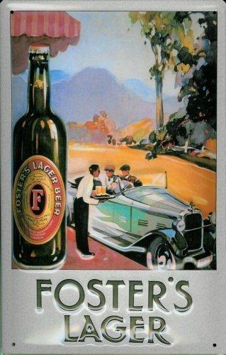 fosters-lager-beer-car-metal-tin-sign-sheet-metal-tin-sign-20-x-30-cm