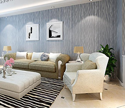 Longless Tapeten, 3D, Einfache, vertikale Streifen, Vliesstoff, Tapeten, Wohnzimmer, Schlafzimmer, Fußweg, Hintergrund, Hintergrundbild, 10*0.53M