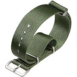 Uhrenarmband ZULUDIVER Nylon NATO Grün 20mm