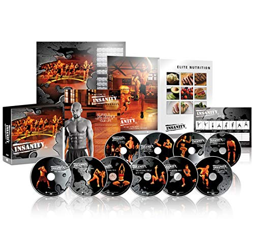 Insanity Base Kit:The Ultimate Cardio Workout and Fitness DVD Programme (Peer-trainer)