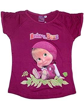 Mascha und der Bär Mädchen T-Shirt Masha and the Bear