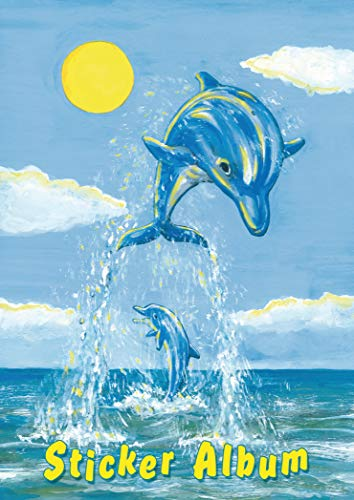 HERMA 15419 Stickeralbum Der kleine Delfin DIN A5 leer (16 Seiten, beschichtetes Spezialpapier) Sticker Sammelalbum zum sammeln, 1 Stickerbuch für Kinder, blanko