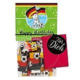 Geschenk Geburtstag Fußball 23er Tütchen Mini Schokolade 3g STEINBECK Vollmilch Schokolade Tafel Geschenk süß Mitgebsel Fußballparty