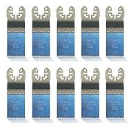 10x Sägeblatt mit Japan-Verzahnung, 32mm Long-Life BiM für Bosch GOP 250 CE