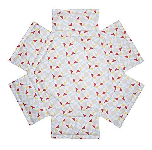 Schardt Tapis de Parc Hexagonal, Motif Prisma Rouge