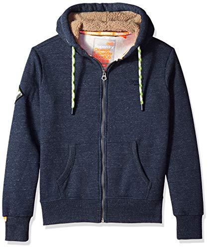 Superdry Herren ORANGE Label Mountain Zip Hoodie Kapuzenpulli, Deep Lake Space Dye, XXX-Large Lake Hoodie Sweatshirt