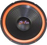100 Watt Auto Einbau Lautsprecher 70mm EBT Rund 20 cm Subwoofer Orange Schwarz McFun 750410