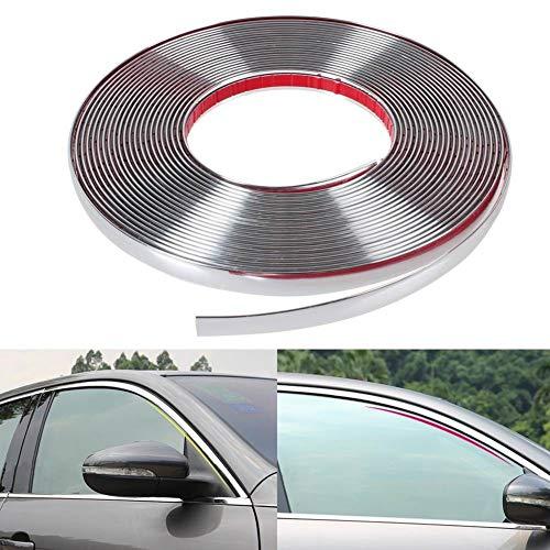 turkeybaby Car Strip, Universal 6mm 15mm 18mm 22mm Auto Chrom Styling Dekorleiste Zierleiste Breite 12mm 3 Meter Länge
