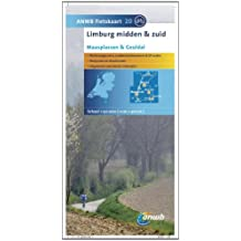 Fietskaart 20 Limburg Midden en zuid 1 : 50 000 mit Radwegen: Maasplassen & Geuldal (ANWB fietskaart (20))