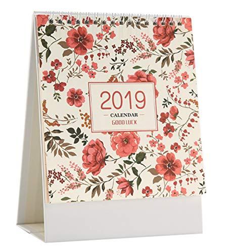 Liuer Novembre 2018 - Dicembre 2019 Mensile Scrivania Pad Calendari Da Tavolo,Calendario Murale Pianificatore Giornaliero Desktop Calendario Mensile Pianificatori Per Ufficio Scuola Famiglia(Rosso)