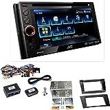 JVC KW-AV61BT USB DVD Bluetooth Freisprecheinrichtung MP3 Moniceiver Autoradio Touchscreen Einbauset für Mercedes W211 CLS W219