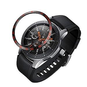 Dkings 2PC Lünette Styling für Galaxy Watch 46mm / Gear Sport Lünette Ring-Klebstoff-Abdeckung Anti Scratch Edelstahl-Schutz [Edelstahl] für Galaxy Watch Zubehör