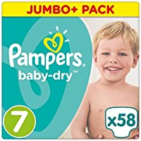 Pampers Baby Dry Taille 7 Jumbo + Lot 58 couches