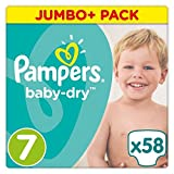 Pampers Baby Dry Größe 7Jumbo + Pack 58Windeln