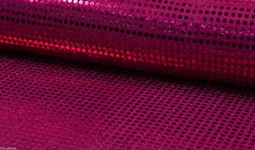 6mm Materiale tessuto di paillettes scintillanti glitter Sparkle-paillettes 6mm-115cm di larghezza lampone paillettes (prezzo al metro)