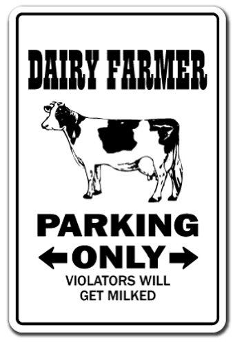 Schild |-| Funny Home Décor für Garagen, der Wohnzimmer, Schlafzimmer, Büros | signmission Farm Traktor Kühe Hühner eier Milch Ei Schild, Dekoration ()