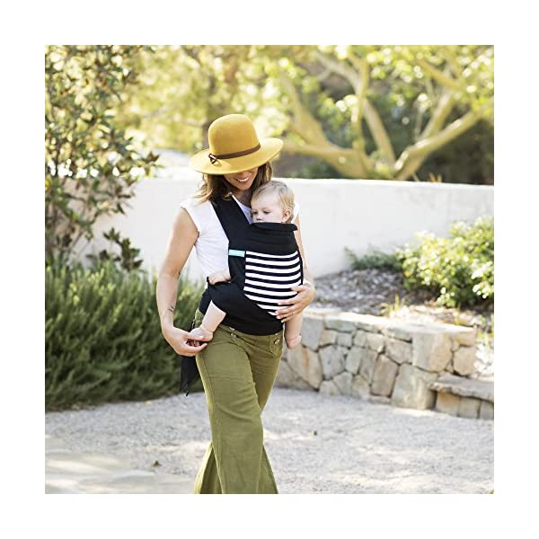 MOBY Buckle Tie Carrier for Baby to Toddler up to 45lbs, One Size Fits All, Unisex,Stripes Moby One-size-fits-all Grows with baby, from infant to toddler Offers front, hip and back carrying positions 7