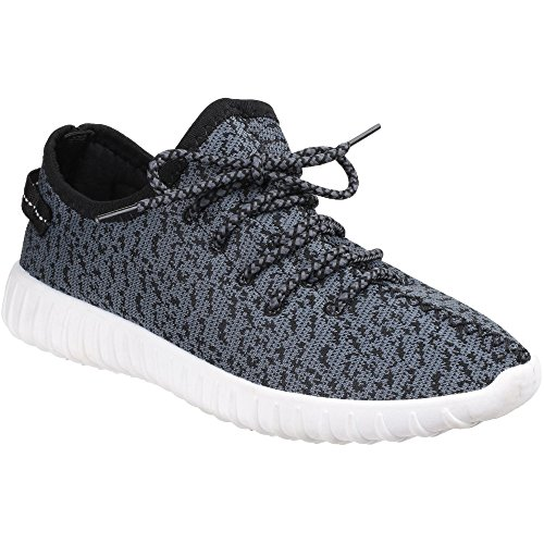 Divaz Zest Ladies Knit-Weave Low Top Sneaker Gris