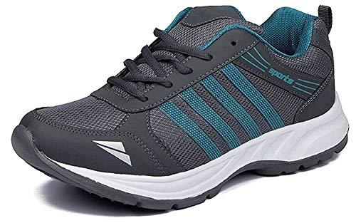 Rockfield Men's Grey Running Sport Shoes - 6