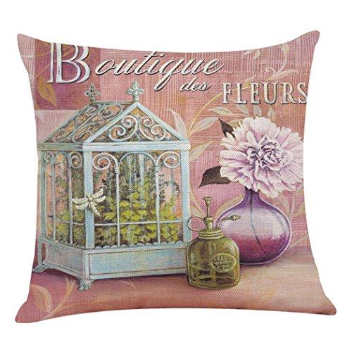 Kissenbezug Kissenhülle 45x45 cm Ronamick Blumen Kissenbezüge Sofakissen Dekokissen Sofa Bett Home Decorative pillow cover (G)