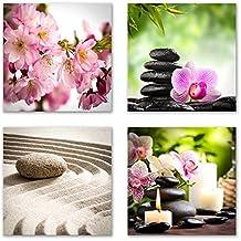 Feng Shui Bilder Set A Schwebend, 4 Teiliges Bilder Set Jedes Teil 29x29cm
