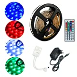 ALED LIGHT  Tiras Led 5050 RGB 5m de Longitud 150 Led Multicolor Control Remoto de 44 Botones y...