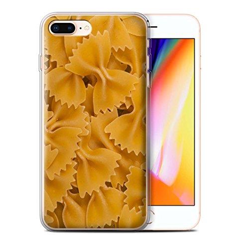 Stuff4 Gel TPU Hülle / Case für Apple iPhone 8 Plus / Pack 10pcs / Lebensmittel Kollektion Pasta Farfalle
