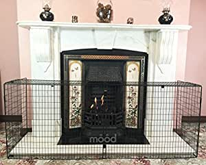 Crannog High Quality Nursery Guard Extendable Fire Screen Baby Safe Child Proof Fire Guard