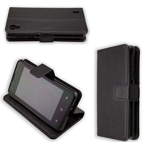 caseroxx Hülle/Tasche Bookstyle-Case Medion Life E4005 MD 99253 Handy-Tasche, Wallet-Case Klapptasche in schwarz